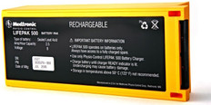 Physio-Control LIFEPAK 500 Lead Acid AED Battery - Rechargeable