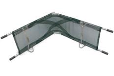 Junkin Med. Corps Type Easy-Fold Aluminum Pole Stretcher - Nylon Mesh