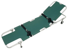 Junkin Easy-Fold Adjustable Back Rest 2 Wheeled Stretcher