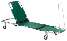 Junkin Easy-Fold Adjustable Back Rest 4 Wheeled Stretcher